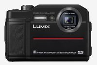 LUMIX DC-FT7EG-K Outdoor Kamera (20,6 MP, 4K Foto, 4K Video, wasserdicht bis 31 m, USB, stoßfest bis 2m, schwarz)
