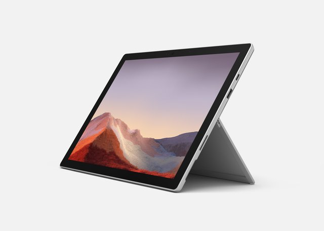 Surface Pro 7, 12,3 Zoll 2-in-1 Tablet (Intel Core i5, 8GB RAM, 256GB SSD, Win 10 Home) Platin Grau