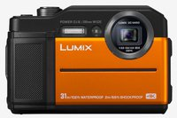 LUMIX DC-FT7EG-D Outdoor Kamera (20,6 MP, 4K Foto, 4K Video, wasserdicht bis 31 m, USB, stoßfest bis 2m, orange)