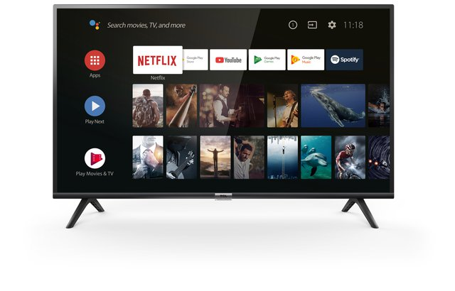 40ES561 LED Fernseher 100 cm (40 Zoll) Smart TV (Full HD, Triple Tuner, Android TV, Prime Video, HDR, Micro Dimming, Dolby Audio, Google