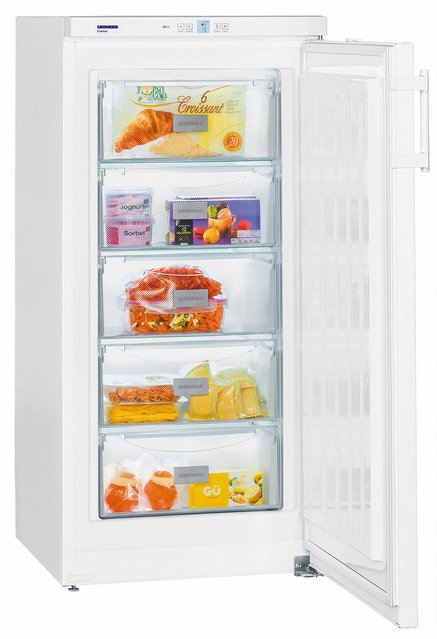 Liebherr GP2033 Freestanding SmartFrost 156 litre Comfort Freezer White with Automatic SuperFrost Function and VarioSpace, Reversible Door, 60cm Width