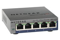 GS105PE 5-Port Gigabit Ethernet LAN PoE Switch Smart Managed Plus (mit 2 PoE-PD 19W Pass-Through, für Desktop mit ProSAFE Lifetime-Garantie,