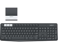 K375s Multi-Device Bluetooth-Tastatur Deutsch, QWERTZ, Windows® Graphit, Grau-Weiß Spritz