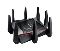 RT-AC5300 Gaming TriBand WLAN Router (AiMesh, WTFast Ping Beschleuniger, 4GB-LAN Link Aggregation, 1.4 GHz Dual-Core CPU, Alexa, IFTTT und App Steuerung, AiProtection by Trendmicro, Multifunktion USB 3.0)