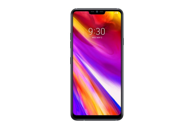 LG G7 ThinQ Smartphone (15,47 cm (6,1 Zoll) FullVision LCD Display, 64GB interner Speicher, 4GB RAM, einstellbare Notch, IP68, MIL-STD-810G, Android