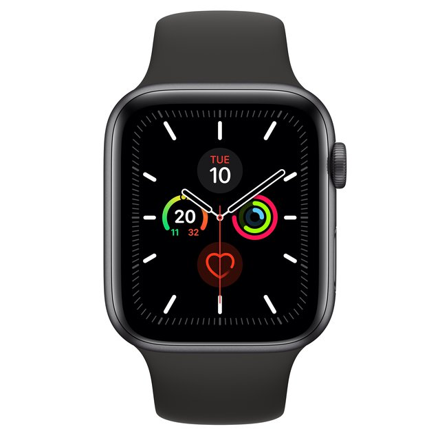 Apple Watch Series 5 Smartwatch Grau OLED GPS
