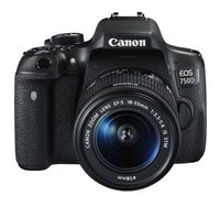 EOS 750D SLR-Digitalkamera (24 Megapixel, APS-C CMOS-Sensor, WiFi, NFC, Full-HD, Kit inkl. EF-S 18-55 mm IS STM Objektiv) schwarz