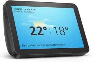Echo Show 8 Smart Display mit Zoll großem HD-Bildschirm Speaker, Anthrazit Stoff