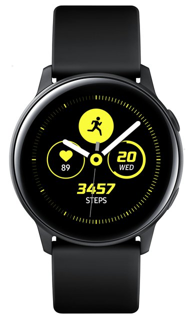 Samsung Galaxy Watch Active Smartwatch Schwarz SAMOLED 2,79 cm (1.1 Zoll) GPS