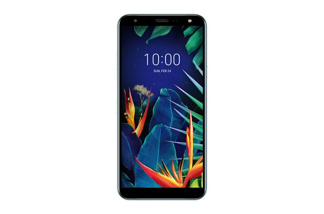 LG K40 Smartphone (14, 48 cm (5, 7 Zoll) LC-Display, 32 GB interner Speicher, 2GB RAM, MIL-STD-810G, Android 8.0) Moroccan Blue