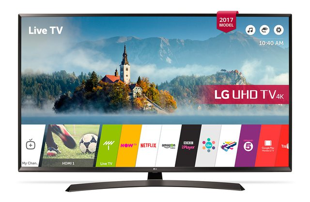 LG 49UJ634V 123 cm (49 Zoll) Fernseher (Ultra HD, Triple Tuner, Active HDR, Smart TV)
