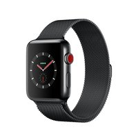 Watch Series 3 Cellular 42mm Edelstahlgehäuse Space Black Milanaisearmband Space Black