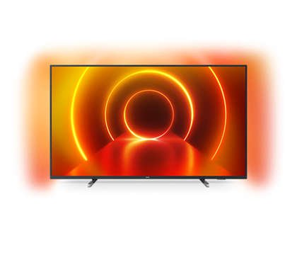 Philips Ambilight 43PUS7805/12 Fernseher 108 cm (43 Zoll) LED TV (4K UHD, P5 Engine, Dolby Vision, Dolby Atmos, HDR 10+, Alexa Sprachsteuerung, Saphi