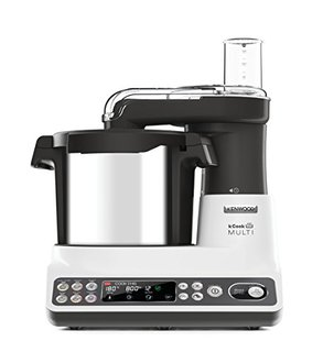 Kcook Multi CCL401WH–Küchenmaschine mit integriertem Zerkleinerer, weiß und schwarz