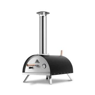 Outdoor Pizzaofen Nero inkl. Pizzaschieber & Pizzastein, hochwertiger Pizza-Backofen, Premium Holzofen für den Garten & Outdoor, Pellets,