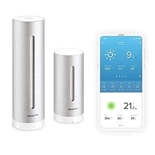 Smarte Wetterstation - WLAN, Funk, Innen- und Außensensor, Wettervorhersage, Amazon Alexa & Apple HomeKit, Hygrometer, Luftqualität, NWS01-EC