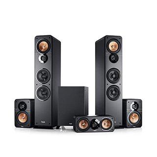 Ultima 40 Surround 5.1-Set Schwarz Heimkino Lautsprecher 5.1 Soundanlage Kino Raumklang Surround Subwoofer Movie High-End HiFi Speaker
