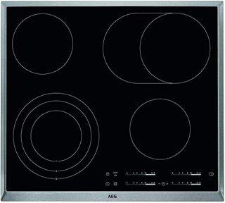 HKA6507RAD Autarkes Glaskeramik-Kochfeld / Strahlenbeheizt / Slider-Bedienung / 60 cm / Edelstahlrahmen / 4 Kochzonen / Bräterzone /