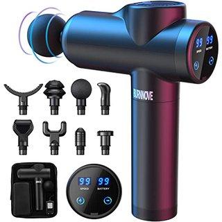 Massagepistole Massage Gun für Nacken Schulter Tiefen Massagegerät mit 99 Geschwindigkeiten 8 Massageköpfen Elektrisches Handmassagegerät 2550 mAh LED