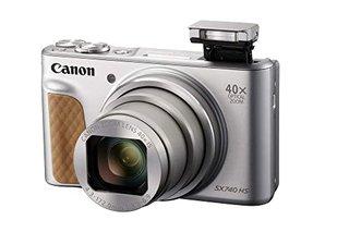 PowerShot SX740 HS Digitalkamera (20,3 MP, 40-fach optischer Zoom, 7,5cm (3 Zoll) Display, DIGIC 8, 4K Ultra HD, HDMI, WLAN, Bluetooth,