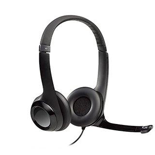 H390 Kopfhörer mit Mikrofon, Stereo-Headset, Mikrofon mit Rauschunterdrückung, Integrierte Bedienelemente, USB-Anschluss, Gepolsterter Bügel