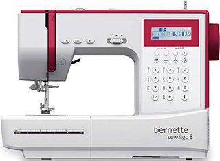 Sew&GO8 - Computer-Nähmaschine mit 197 Nähprogramme, Freiarm, Multifunktionsdisplay, Nähen, Patchen, Quilten